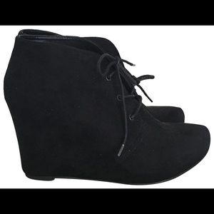 Xappeal Black Wedge Booties
